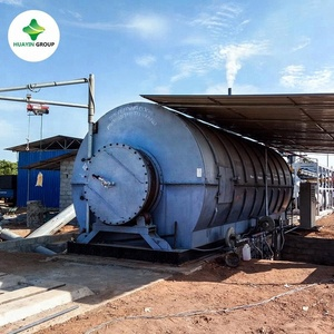 pyrolysis recycling waste tire to furnace fuel oil plant