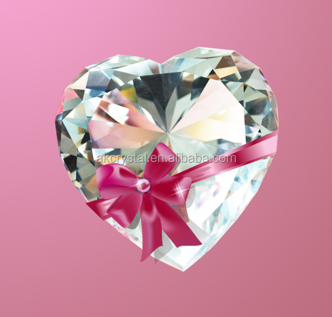 Hot sale multi color heart shape crystal diamond wedding gifts for guests