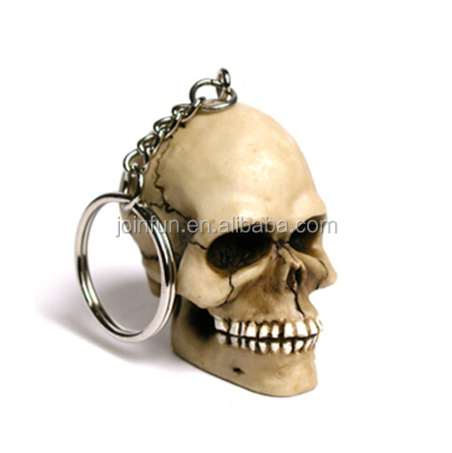 custom make plastic human skull keychain,customized human skull design keychain