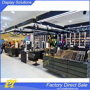 Cosmetic Display Stand and Showcase Mall Cosmetic Shop Kiosk Layout Design
