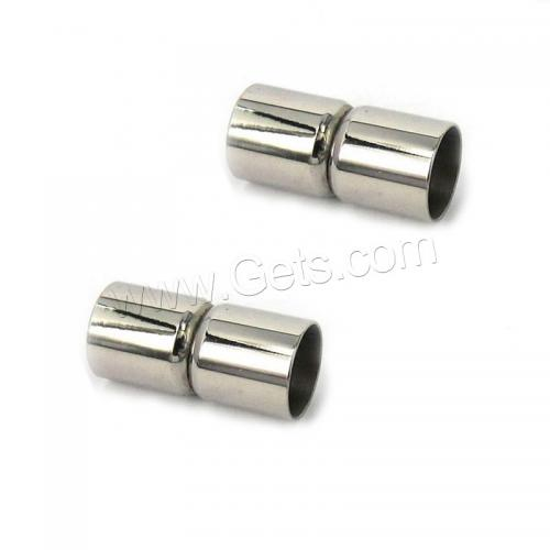 Scarf 304 Stainless Steel Oval Large Magnetic Clasps 6x18x5mm <strong>Hole</strong>: 5mm 1137470