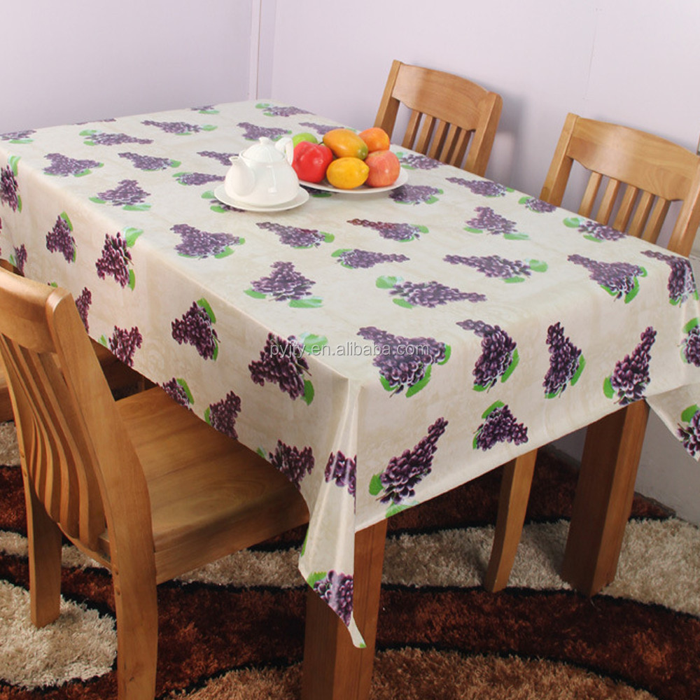 Fruits purple grape pattern table cloth for home banquet printed table cover
