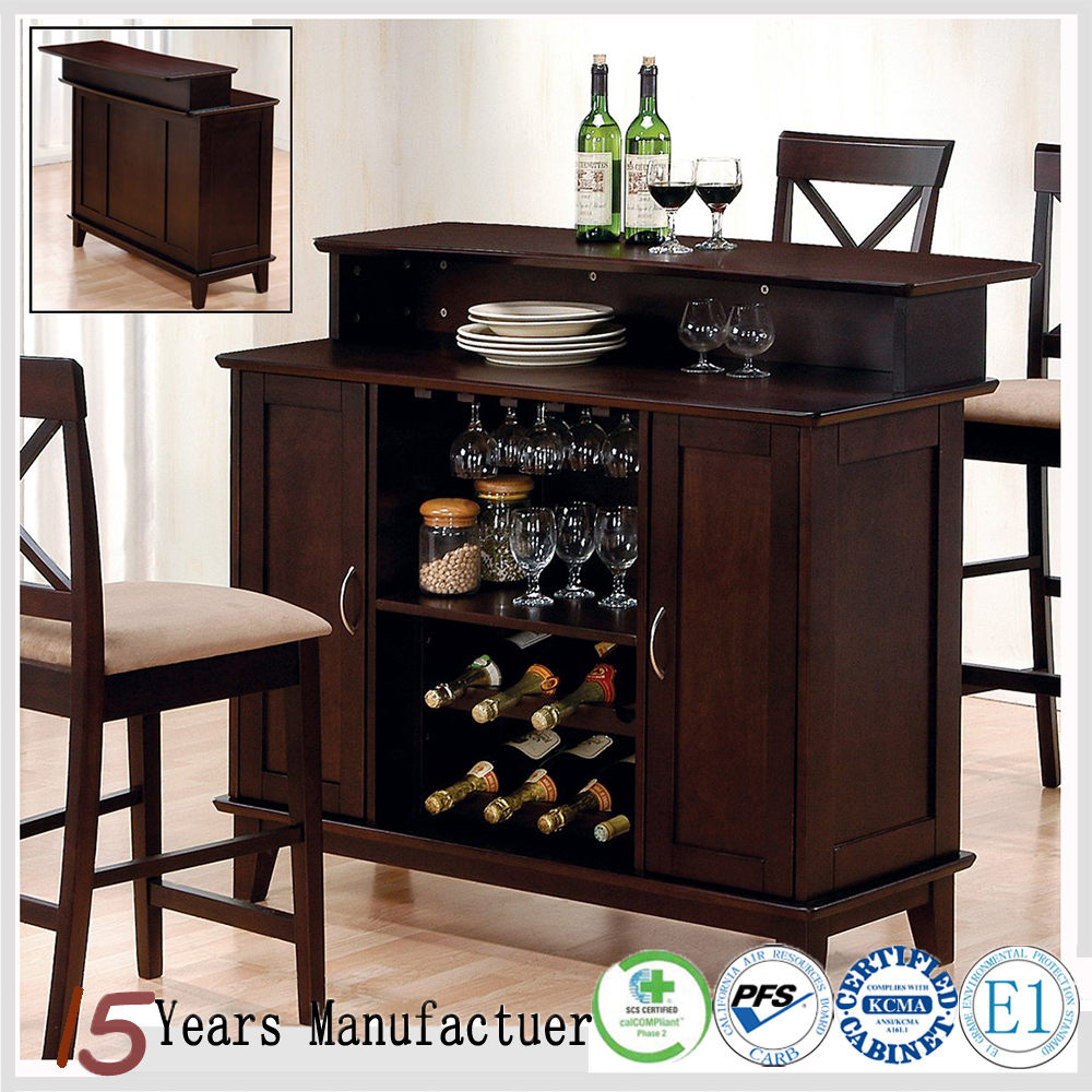 China RTA Shaker Style Bar Cabinets For Home