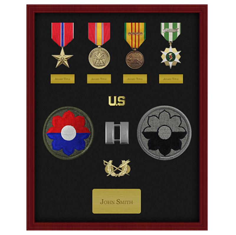 Marco Sombra Caja De Madera 16x20 11x14 Pulgadas Medalla Militar ...
