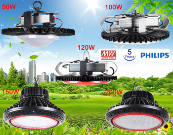 Mean Well Driver LED High Bay Light UFO Warehouse LED Industrial High Bay Light 200w UFO IP65 Led High Bay Light