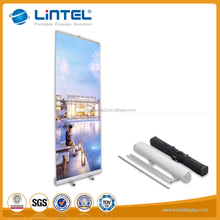 Customized retractable aluminum roll up banner stand display for selling