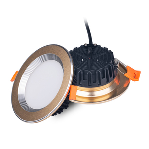 New cheap fire rated 110V 240V 12W golden recessed LED downlight