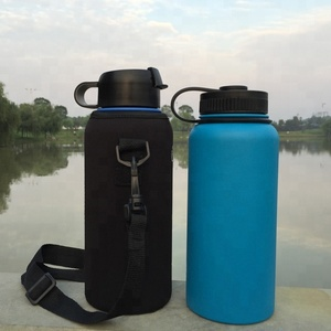 32OZ - 500ML Double Wall Vacuum Insulated Stainless Steel Wide Mouth Bottle/Sleeve Pouch/Flip Lid