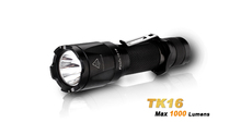 Best tactics reliable flashlight fenix TK16 with four brightness modes and Dual Tactical Tail Switch rechargeable flashlight