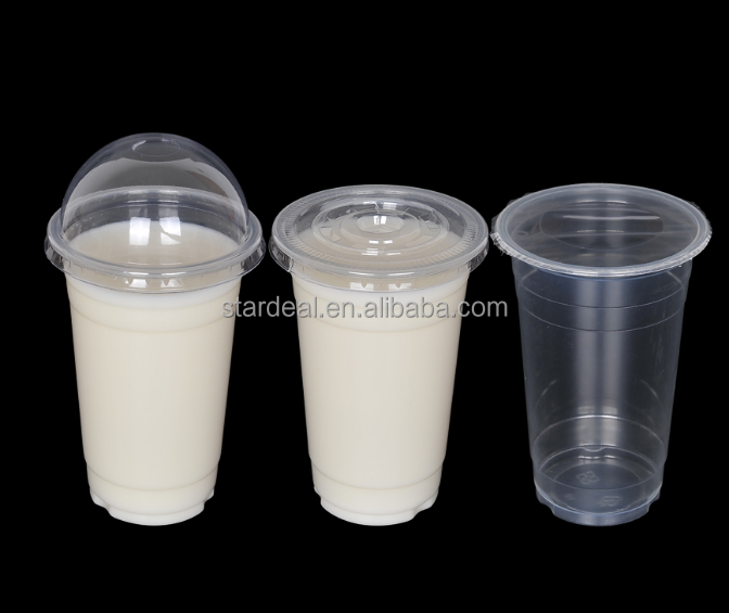 Custom disposable PET plastic food container for fruit juice and milk