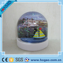 2016 new products hot sale photo insert in the plastic snow globe and paint logo is accepted,snow water globe