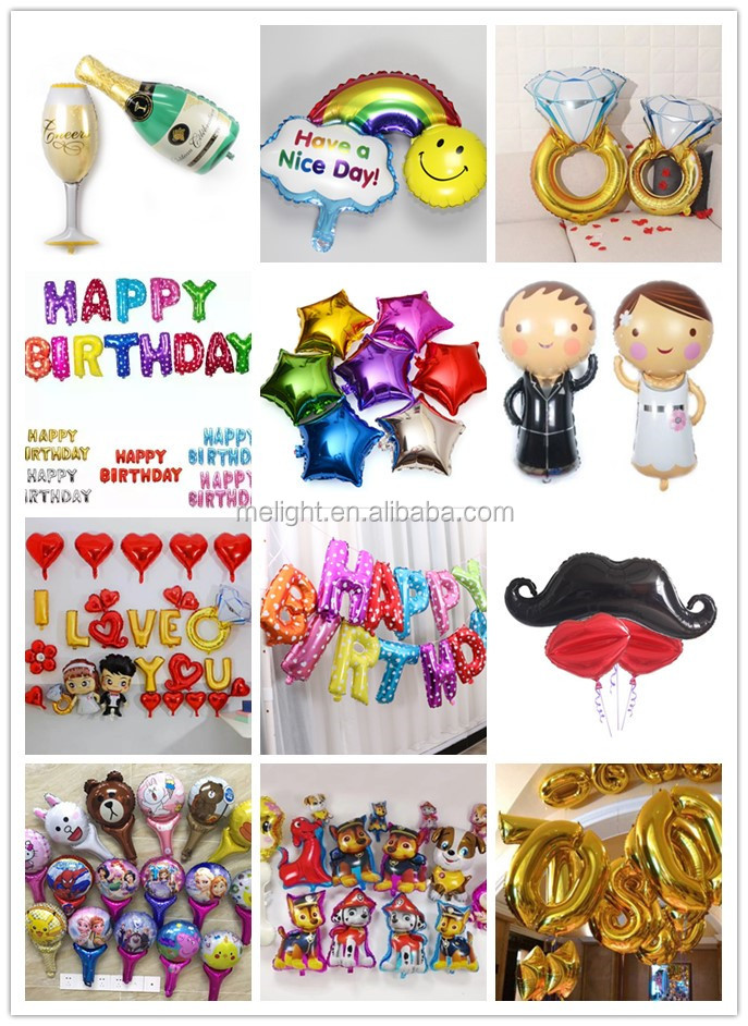"hang happy birthday Foil Banner Balloons 16"" happy birthday letter foil balloon"