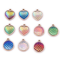 Wholesale Personalized Jewelry Zinc Alloy Customized Heart Shape Metal Charms for Jewelry making