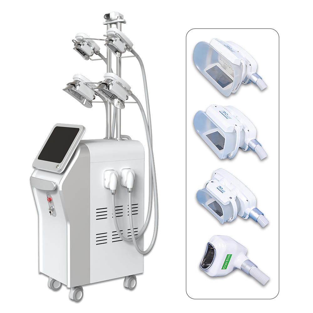 5 Heads Criolipolisis freeze fat machine 4 handles working at the same time cool slimming machine