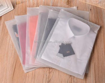 Frost Pe Plastic Bags Garment Clothing Zipper Bag
