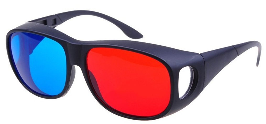 Glasses Direct-3D Glasses - 3D Vision Ultimate Anaglyph 3D Glasses - Made To Fit Over Prescription Glasses-YYBQ