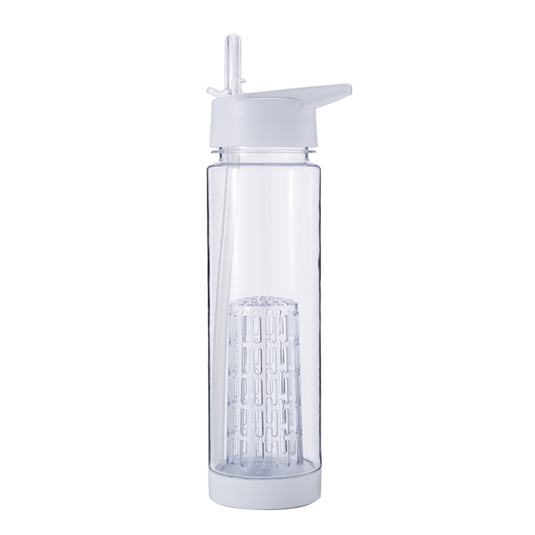 Custom logo 750ml plastic fruit infuser water bottle with filter