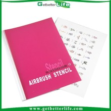 Hot sales reusable henna stencils/temporary airbrush tattoos stencil/airbrush tattoo stencil book