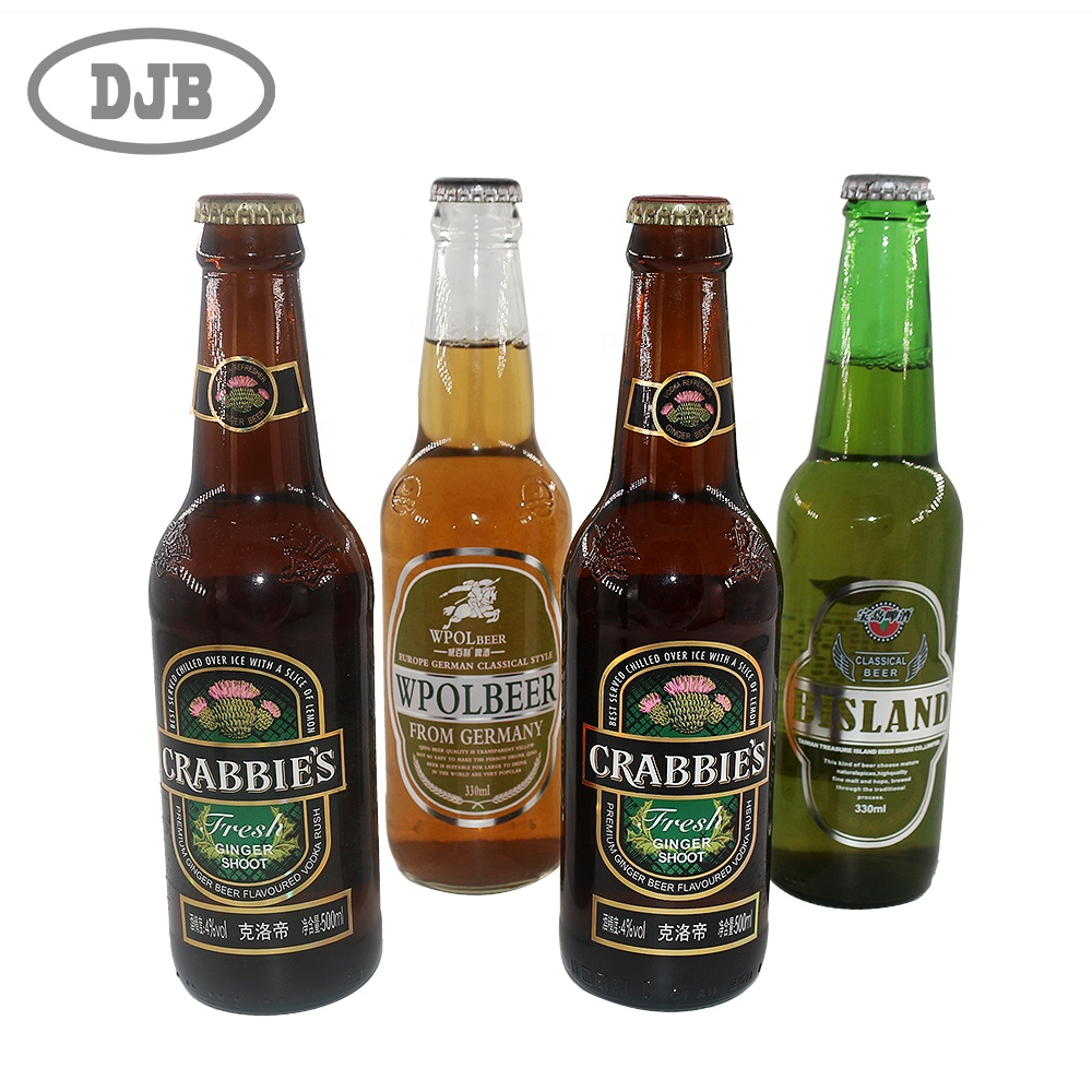 Hot stamping glass stickers printing custom beer labels for bottle