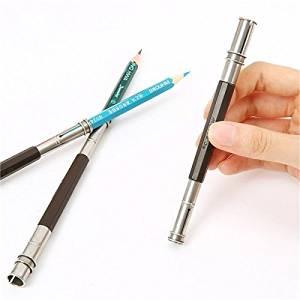 Adjustable Pencil Extender Dual 2 Head Holder School Art Sketch Writing Tools / Adjustable Pencil Extender Dual 2 Head Holder School Art Sketch Writing Tools . . : . MaterialP: Metal, Plastic