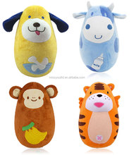 baby plush stuffed cute animal shape tumbler toy