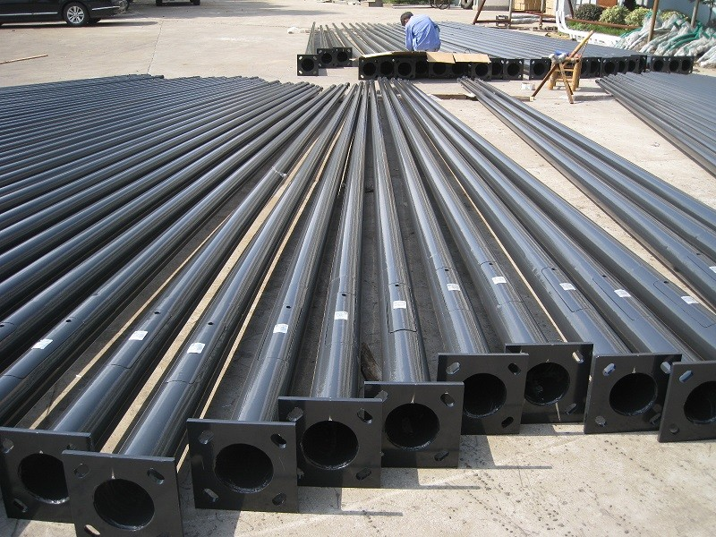 Conical Urban Road Galvanized Steel Tapered Power Pole