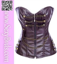 Factory supply new arrival low price Sexy Leather Steampunk Corset