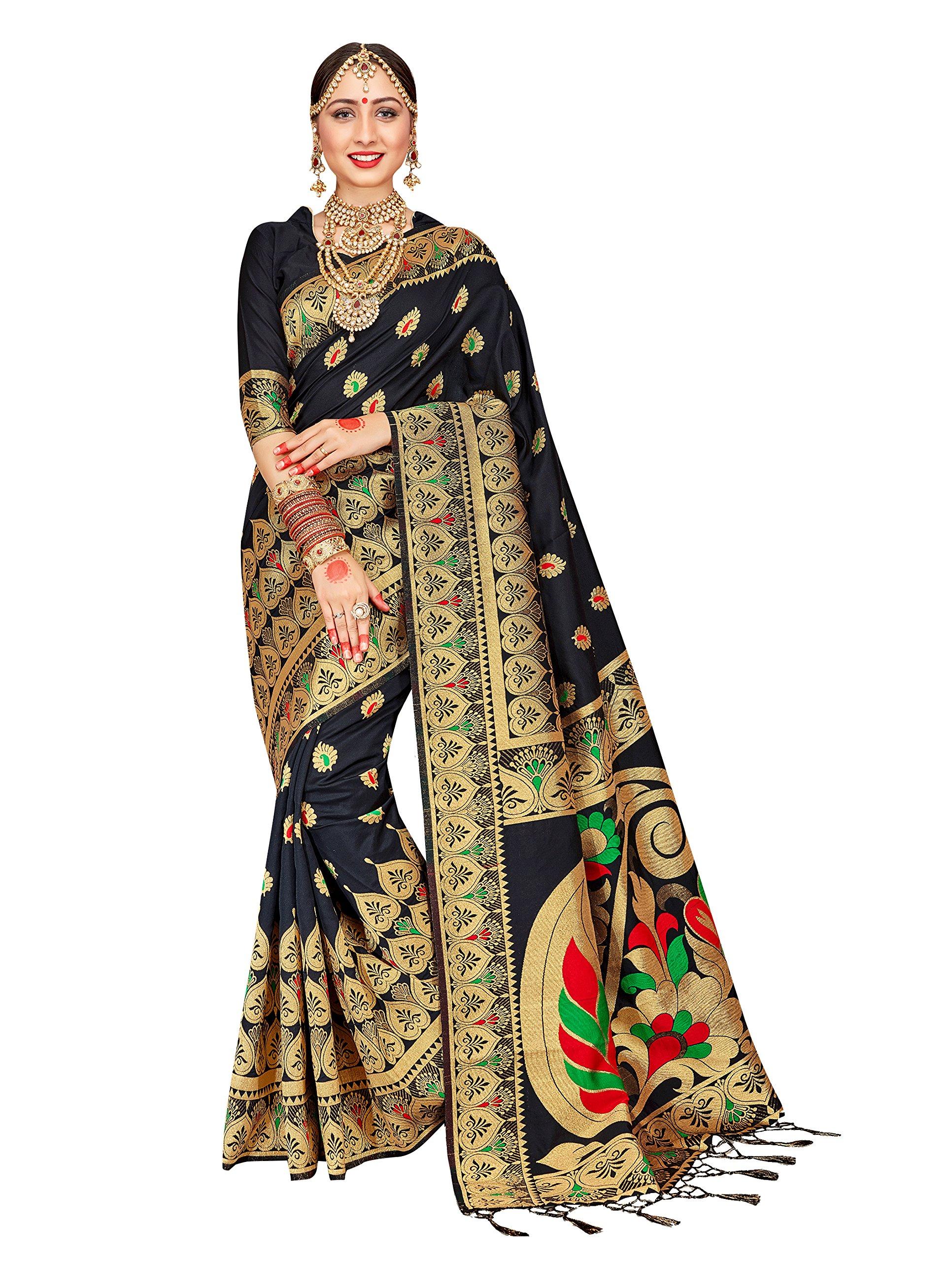 ELINA FASHION Sarees For Women Banarasi Art Silk Woven Saree l Indian Wedding Traditional Wear Sari