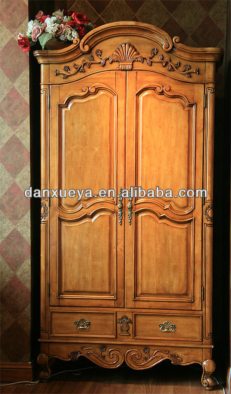 2013 talla de madera maciza muebles antiguos de dos - Armarios roperos antiguos ...