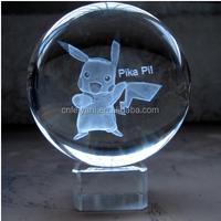 Crystal crafts 3D Laser Engraving for souvernir or promotional crystal cube