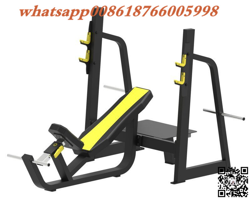 Jinggong Incline Bench Weight lifting Exerciser with Barbell Weights Optional JG1611