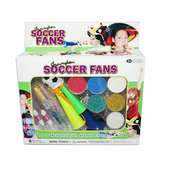 Game fans soccer football Face Paint make up kit with EN71 7P RoHS