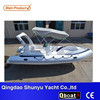 CE certificate 10 persons double V-deep hull rigid inflatable RIB boat for sale