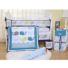 13% Off High Quality Printed Cotton Material Summer Used Baby Crib Bedding Set