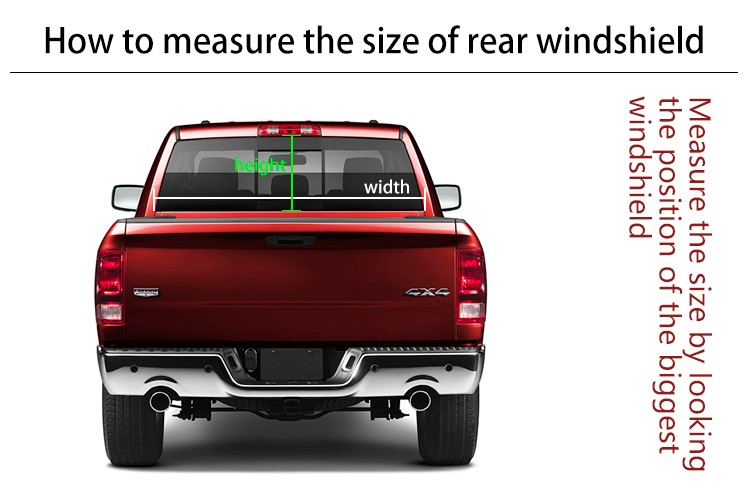 Wholesale High Beam Graphics Sticker Car Rear Windsheild Removable - Window decals for trucks rear