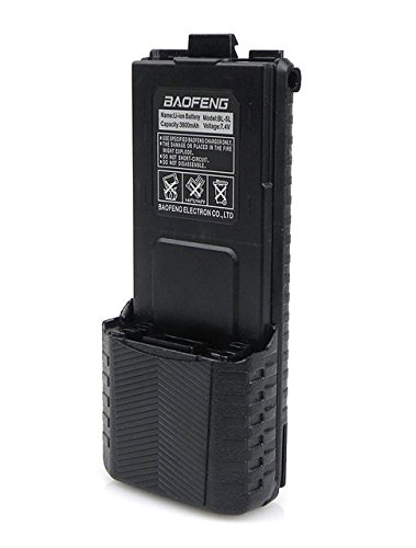 Original Baofeng Extended High Capacity Battery (3800mAh) For DM-5R UV-5R UV-5RE Plus BF-F8HP UV-5RTP Series Two Way Radio (Black)
