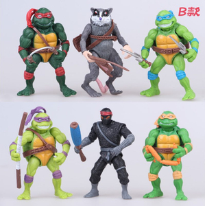 Turtles action figure toys PVC model dolls for kids Christmas gift scene simulation fighting anime figures toys