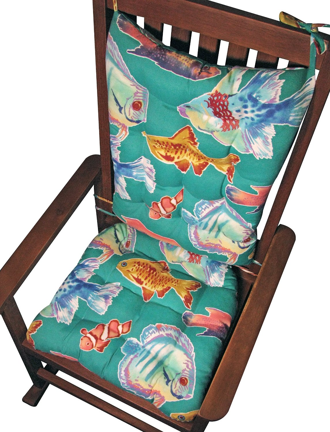 Get Quotations · Porch Rocker Cushion Set   Big Fish Aqua Lagoon   Extra  Large   Indoor /