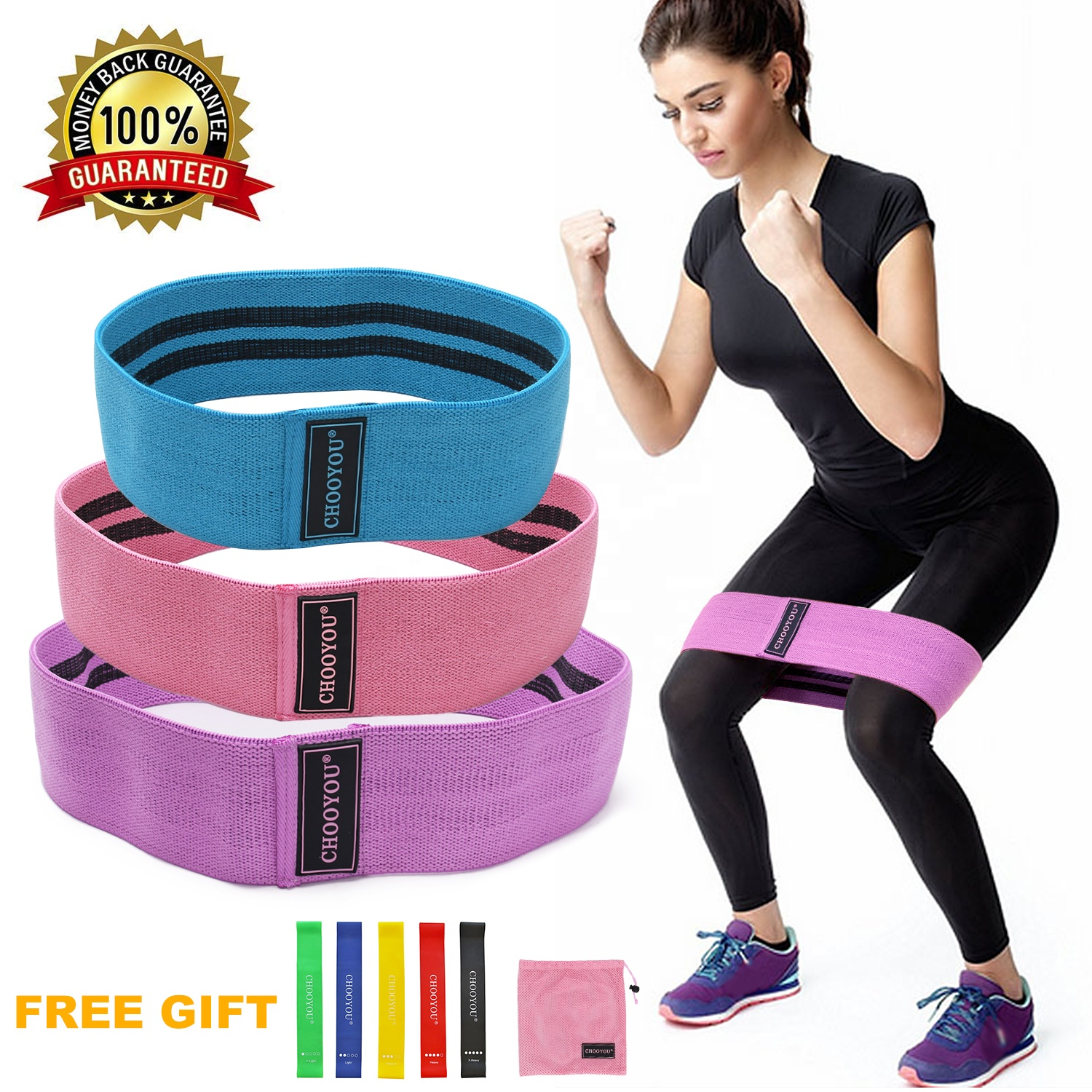 fabric hip circle <strong>resistance</strong> bands for bodybuilding