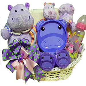 Art of Appreciation Gift Baskets Happy Happy Hippo New Baby Gift Basket, Girl by Art of Appreciation Gift Baskets