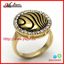 B1012150-R55 classical rivers shape ring gold plated