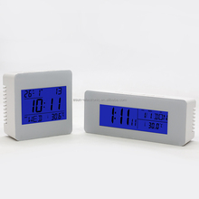 Multi-Languages Digital Radio Controlled Ultronic Weather Station Alarm Clock For Home Decor