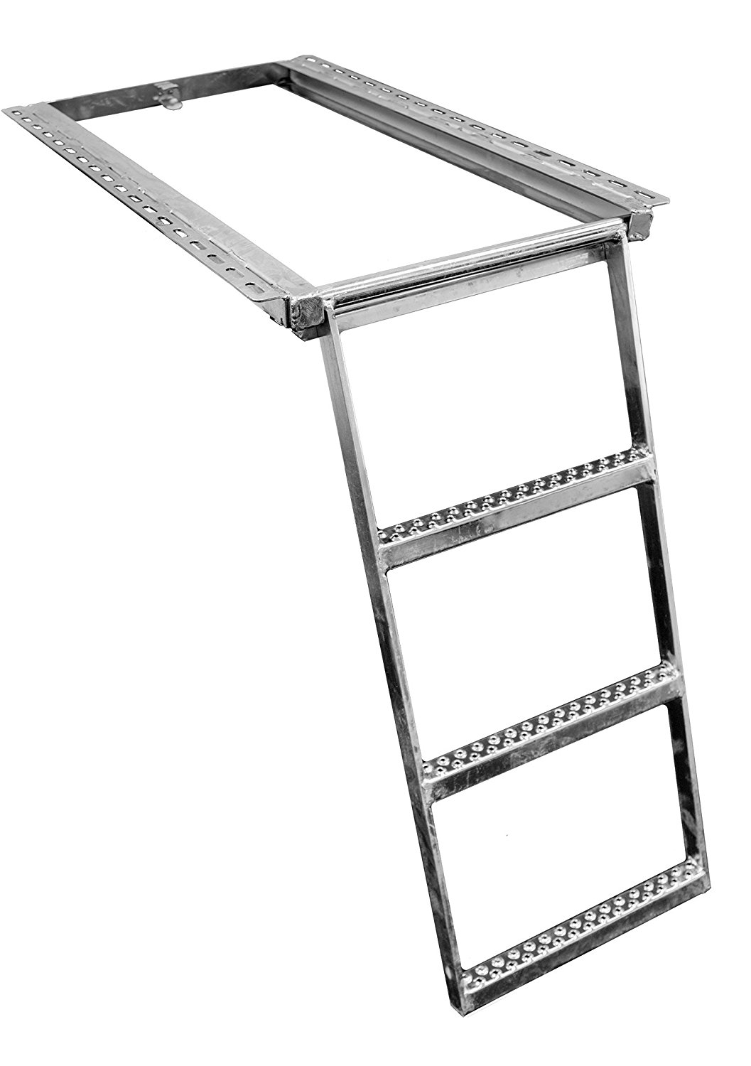 Buyers Products RS3SS Stainless Steel 3-Rung Retractable Truck Step