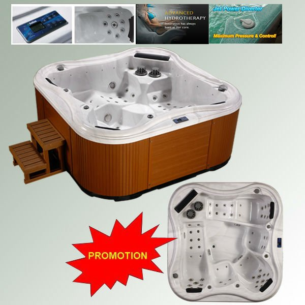 Beautiful hot tub parts for 5 persons family relaxation