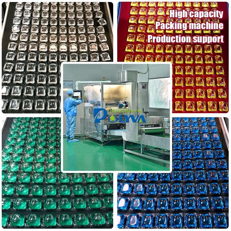 中国新的清洁胶囊肥皂荚洗衣洗涤剂荚机洗