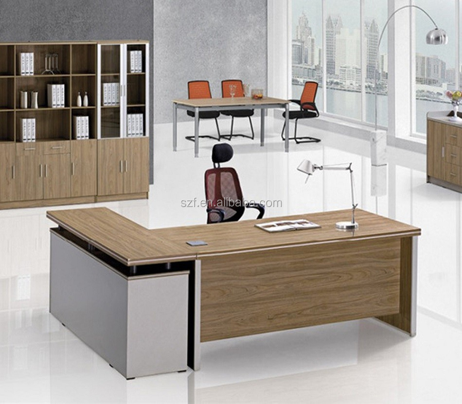 2016 spanish style office desk set with melamine wood table for