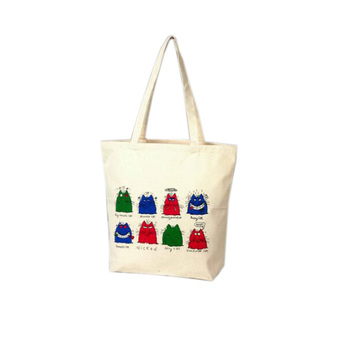 cotton full color custom printed canvas tote bags