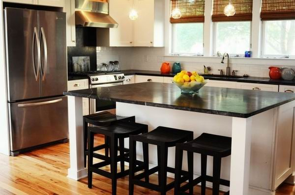 2015 Prefab Cultured Lowes Leather Luster Black Laminate Kitchen ...