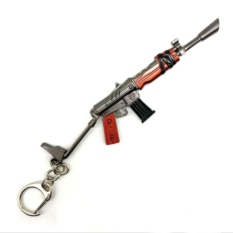 Fort Night 12 cm Personalizado Battle Royale Arma Rocket Launcher Anel Chave Fortnite Chaveiro De Metal Gun