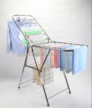 Stainless Steel Portable Clothes Garment Rack Laundry Hanger Fg 7019c